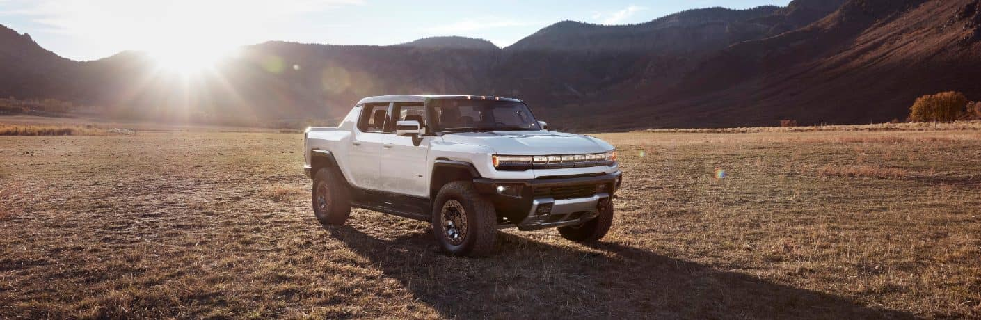 2022 GMC HUMMER EV SUT in a big open desert