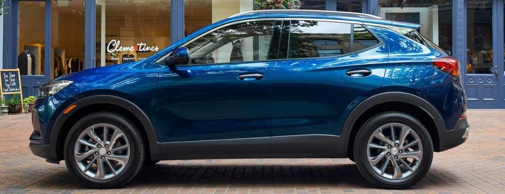 2022 Buick Encore GX blue side view