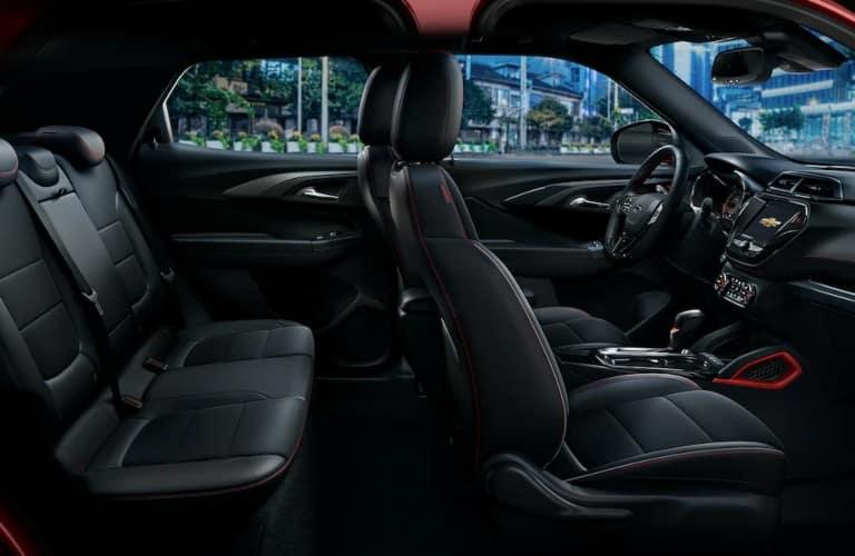 2022 Chevy Trailblazer interior view black