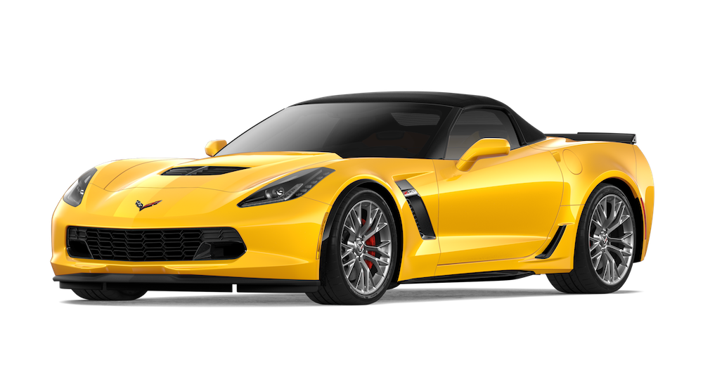Yellow 2018 Chevy Corvette