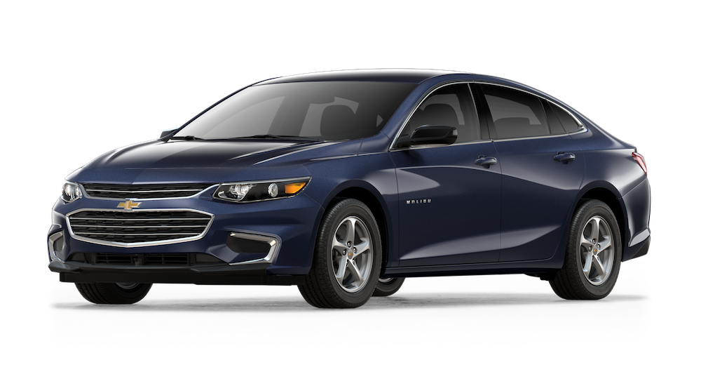 Blue 2018 Chevy Malibu model image