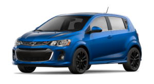 Blue 2018 Chevy Sonic