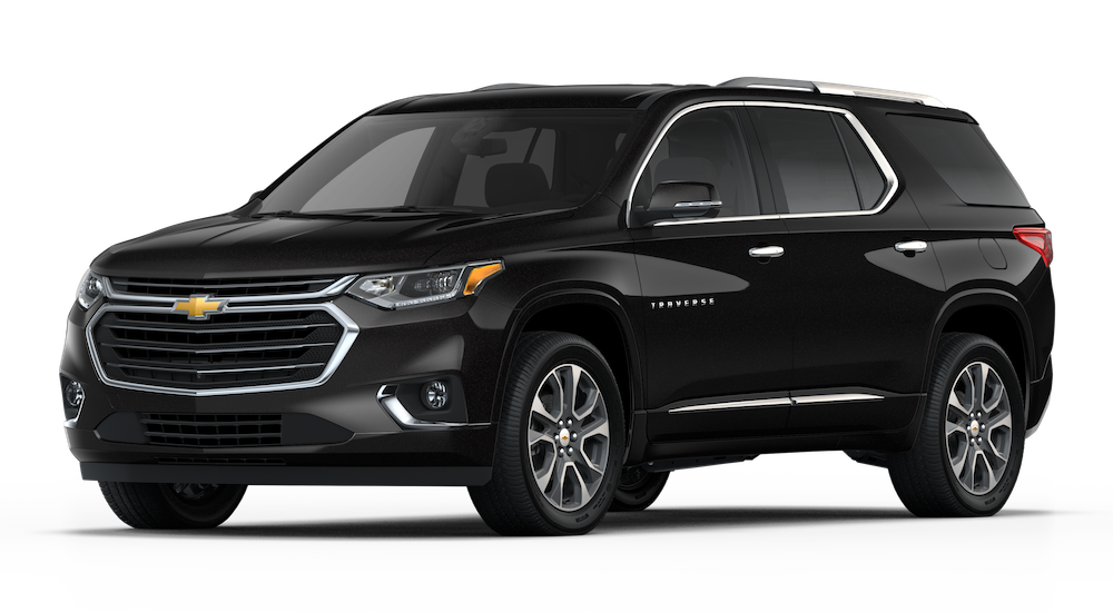 Black 2018 Chevy Traverse Model Image