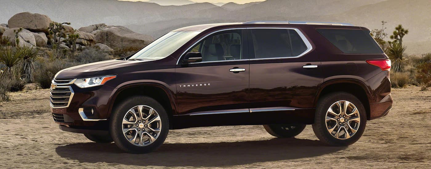 2019 Chevy Traverse Exterior in the Desert