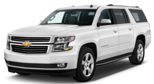 A white 2019 Chevy Suburban from Carl Black Nashville