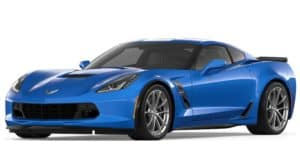 Blue 2019 Chevrolet Corvette Grand Sport on white