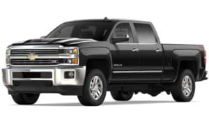 Black 2019 Chevy Silverado HD on white