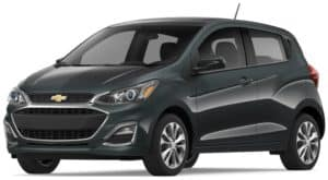 Gray 2019 Chevy Spark on white