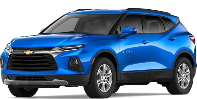 2019 Blazer Kinetic Blue Metallic Color