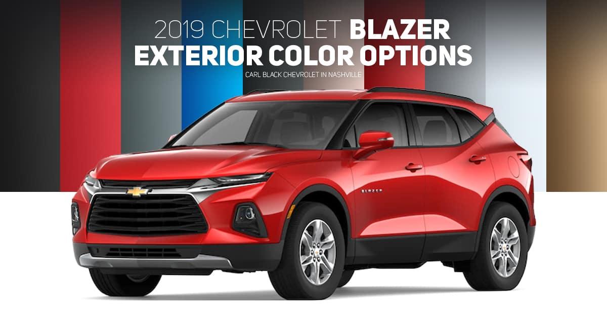 2019 Chevrolet Blazer Exterior Color Options Carl Black Nashville