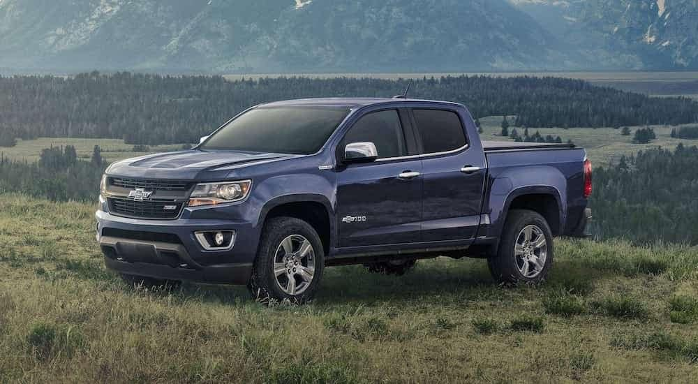A limited edition 2019 Chevy Colorado in a grassy field