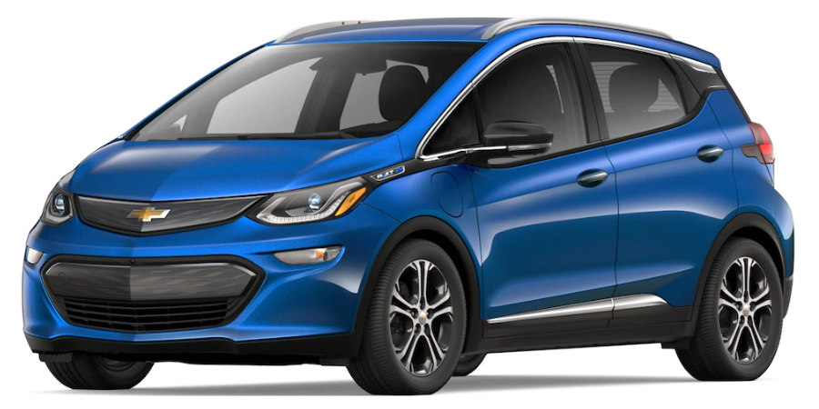 2019 Chevy Bolt in Kinetic Blue Metallic