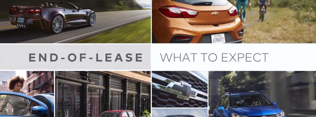 End-of-Lease What to Expect title and images of various Chevrolet vehicles