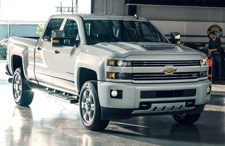 Front view of white 2019 Chevrolet Silverado 3500HD