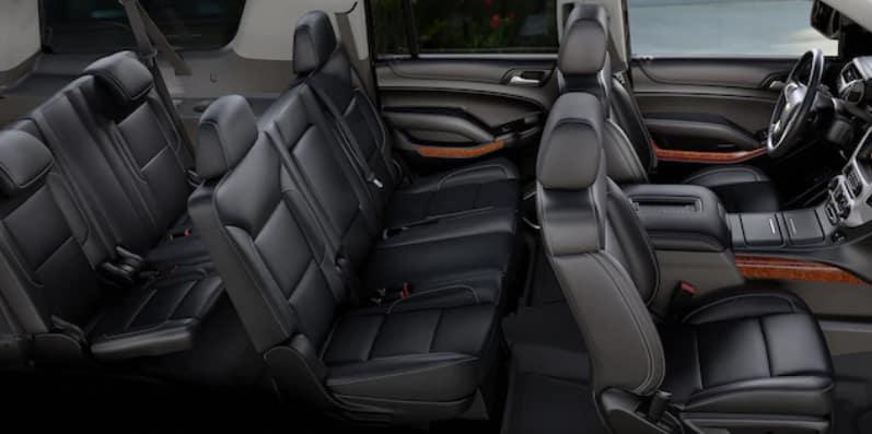 Black seats in 2020 Chevrolet Suburban