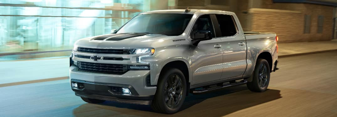 Front view of silver 2020 Chevy Silverado Rally Edition