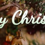 white text merry Christmas image