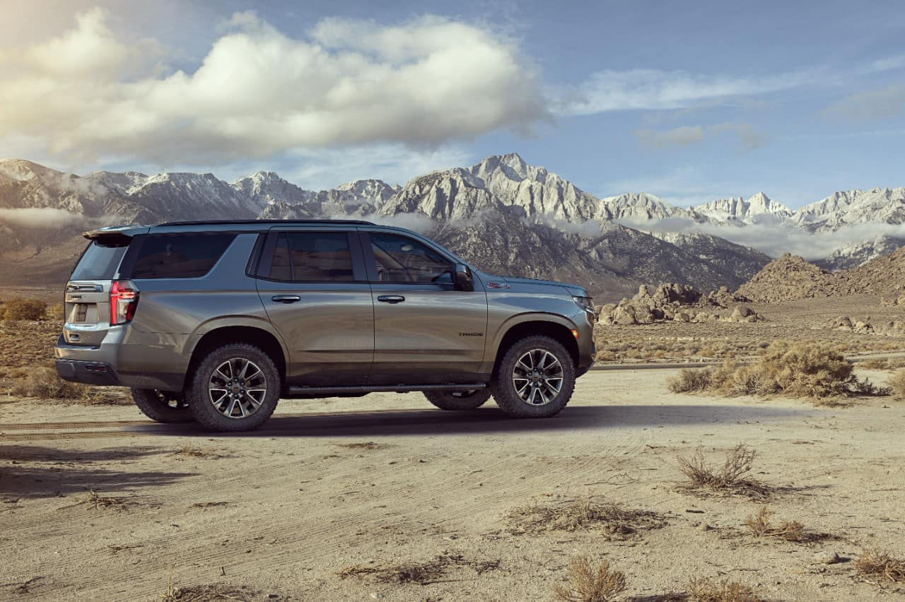 2021 chevrolet tahoe side view