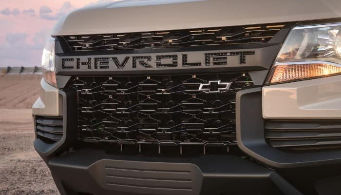 front grille of a chevrolet colorado
