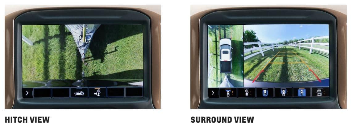 Chevrolet Silverado hitch and surround views