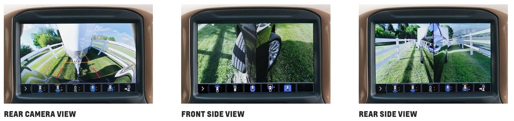 Chevrolet Silverado three parking camera angles