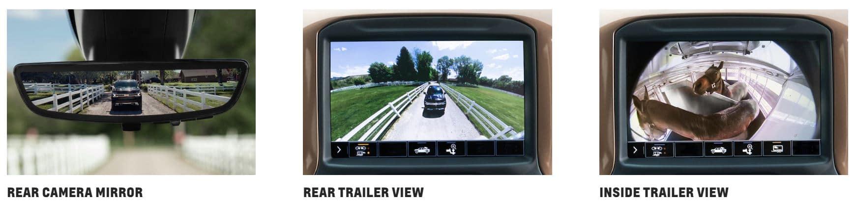Chevrolet Silverado three camera views