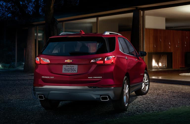 red 2020 Chevrolet Equinox rear view