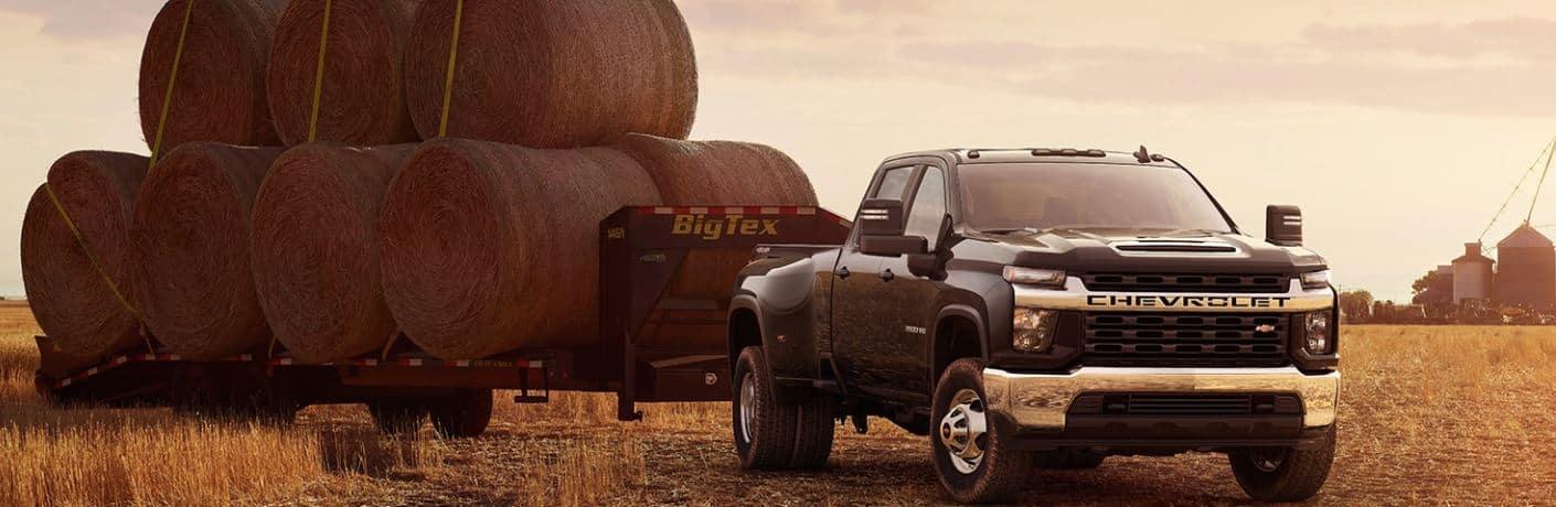 2020 Chevrolet Silverado 3500 HD towing hay