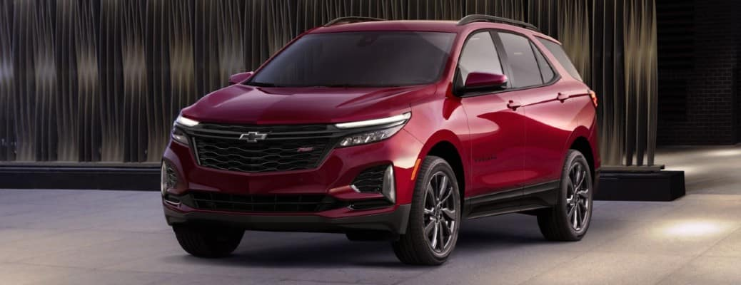 front view of red Chevrolet Equinox