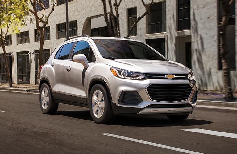 white 2020 Chevrolet Trax on the road