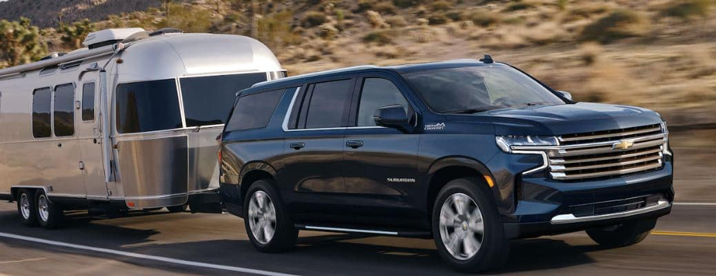 2021 Chevrolet Suburban with a trailer