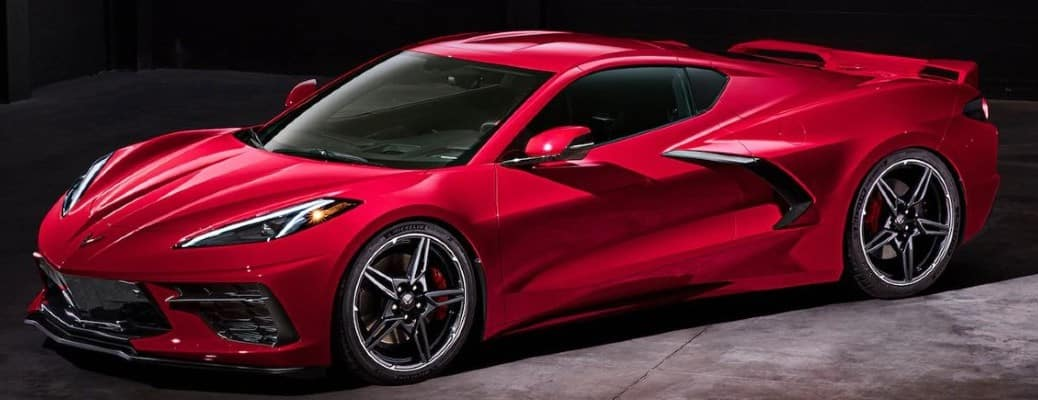 red 2020 Chevrolet Corvette front view