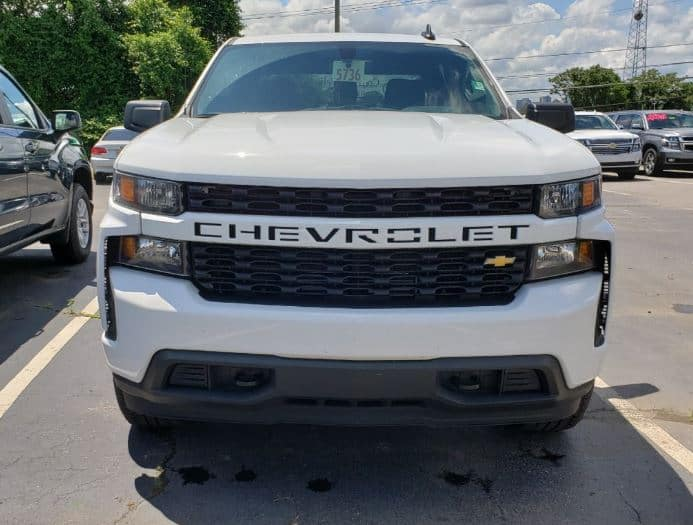 a pre-owned Chevrolet Silverado at the dealership