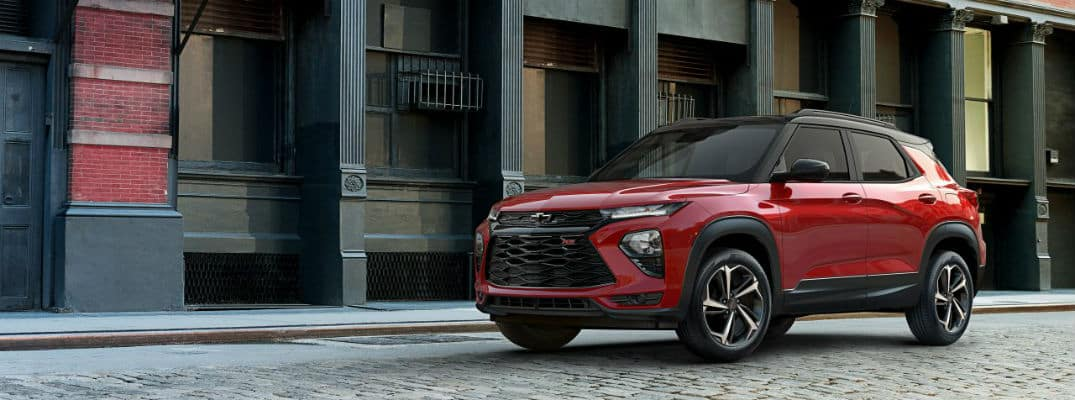 2021 Chevrolet Trailblazer in a city