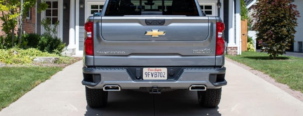 2021 Chevrolet Silverado rear view