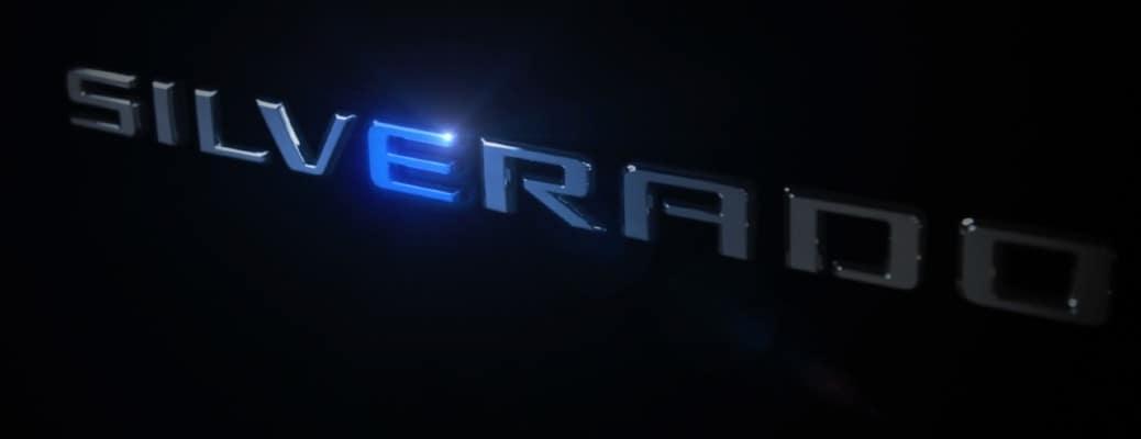 Chevrolet Silverado logo on black