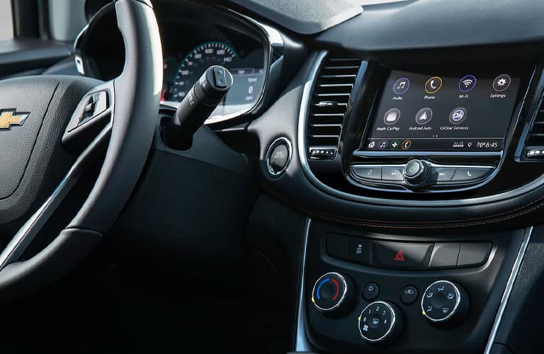 2021 Chevrolet Trax front dashboard close up