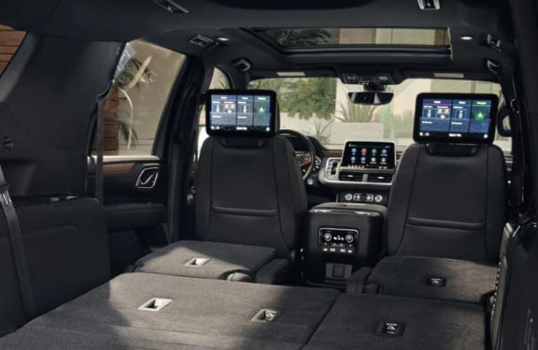 rear cargo area of a 2021 Chevrolet Suburban
