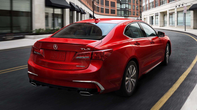 2018 Acura TLX Exterior Rear Angle Drive