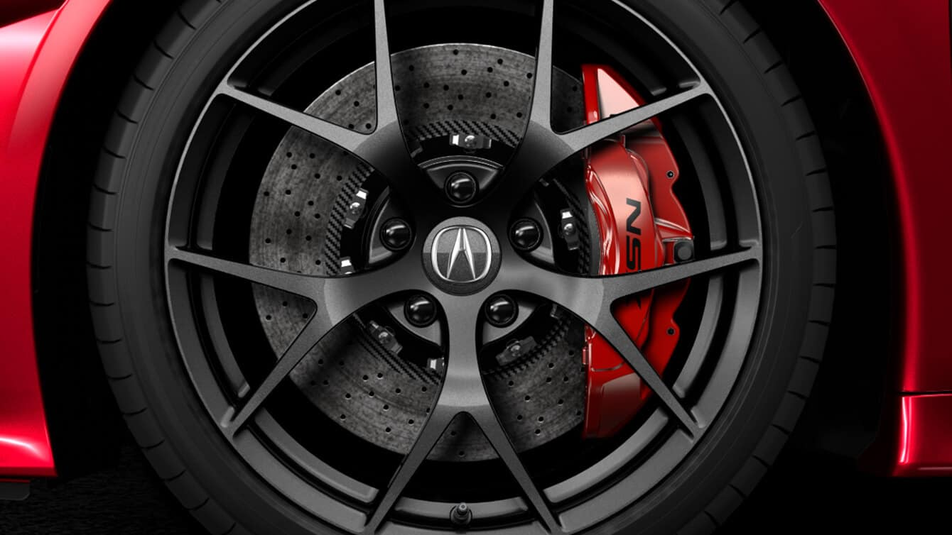 2018 Acura NSX Exterior Brembo Hydraulic Brakes Closeup