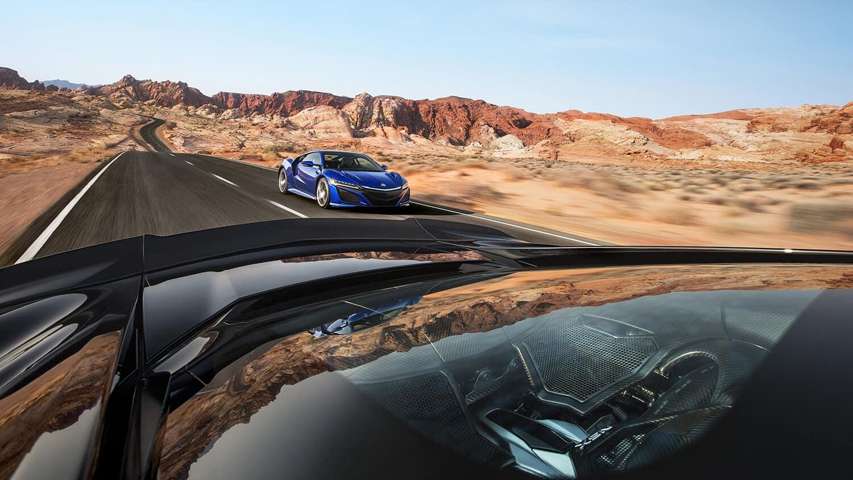 2018 Acura NSX Exterior Dual Vehicle Closeup