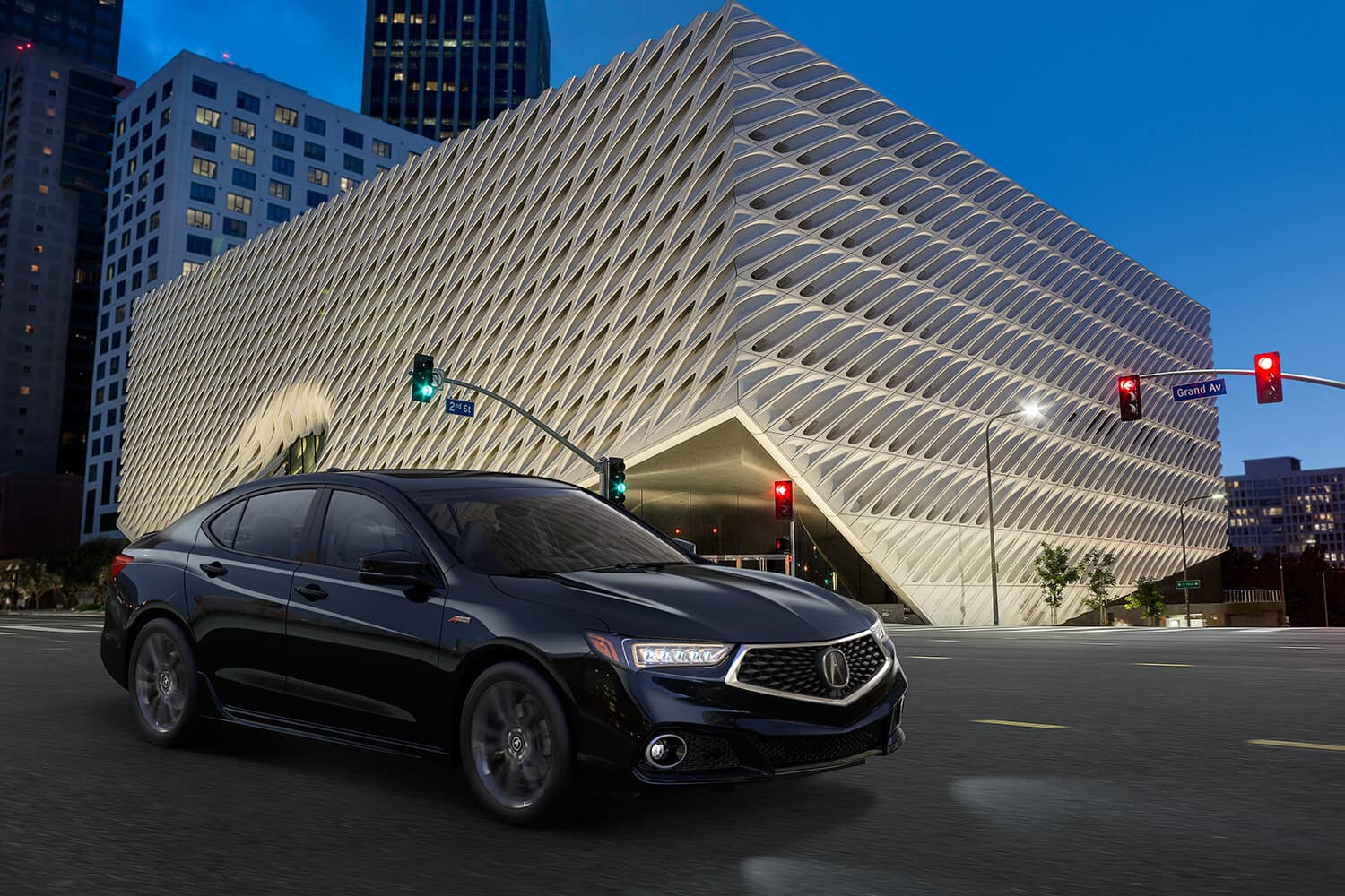 2019 Acura TLX Exterior City Night Passenger Side