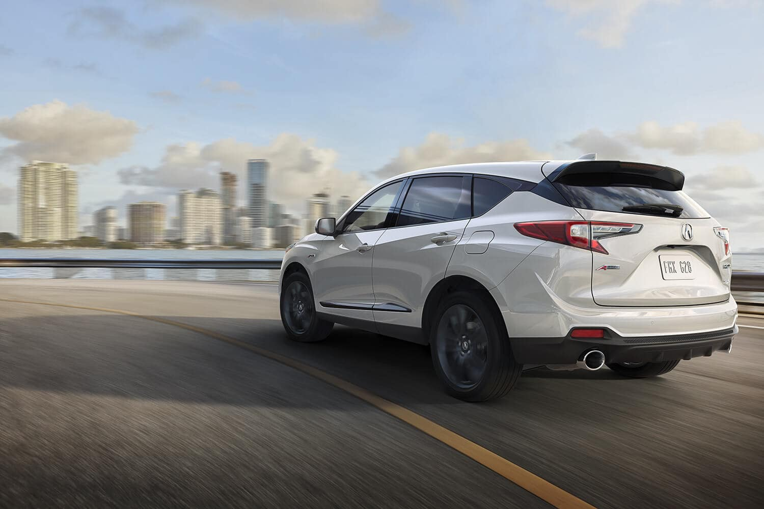 2019 Acura RDX Exterior Rear Angle Driver Side White
