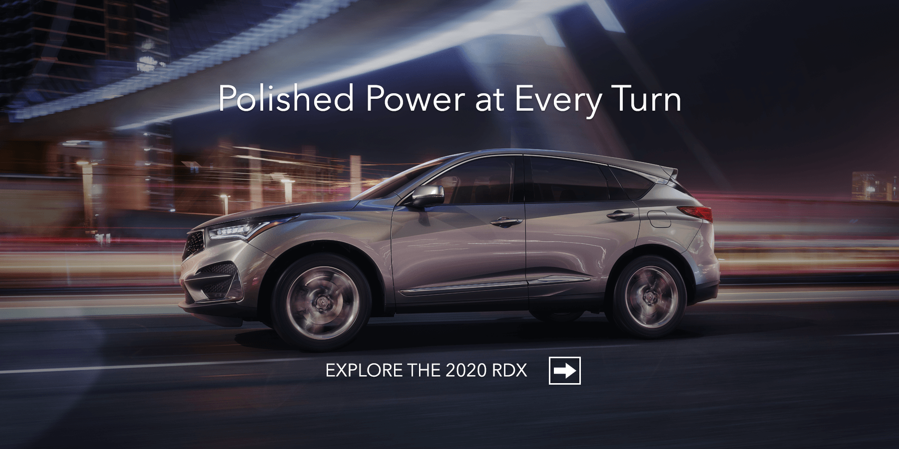 2020 Acura RDX Lunar Silver Metallic Side Profile Night HP Slide