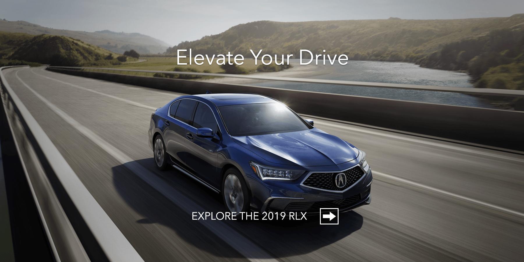 2019 Acura RLX Fathom Blue Pearl Front Angle HP Slide
