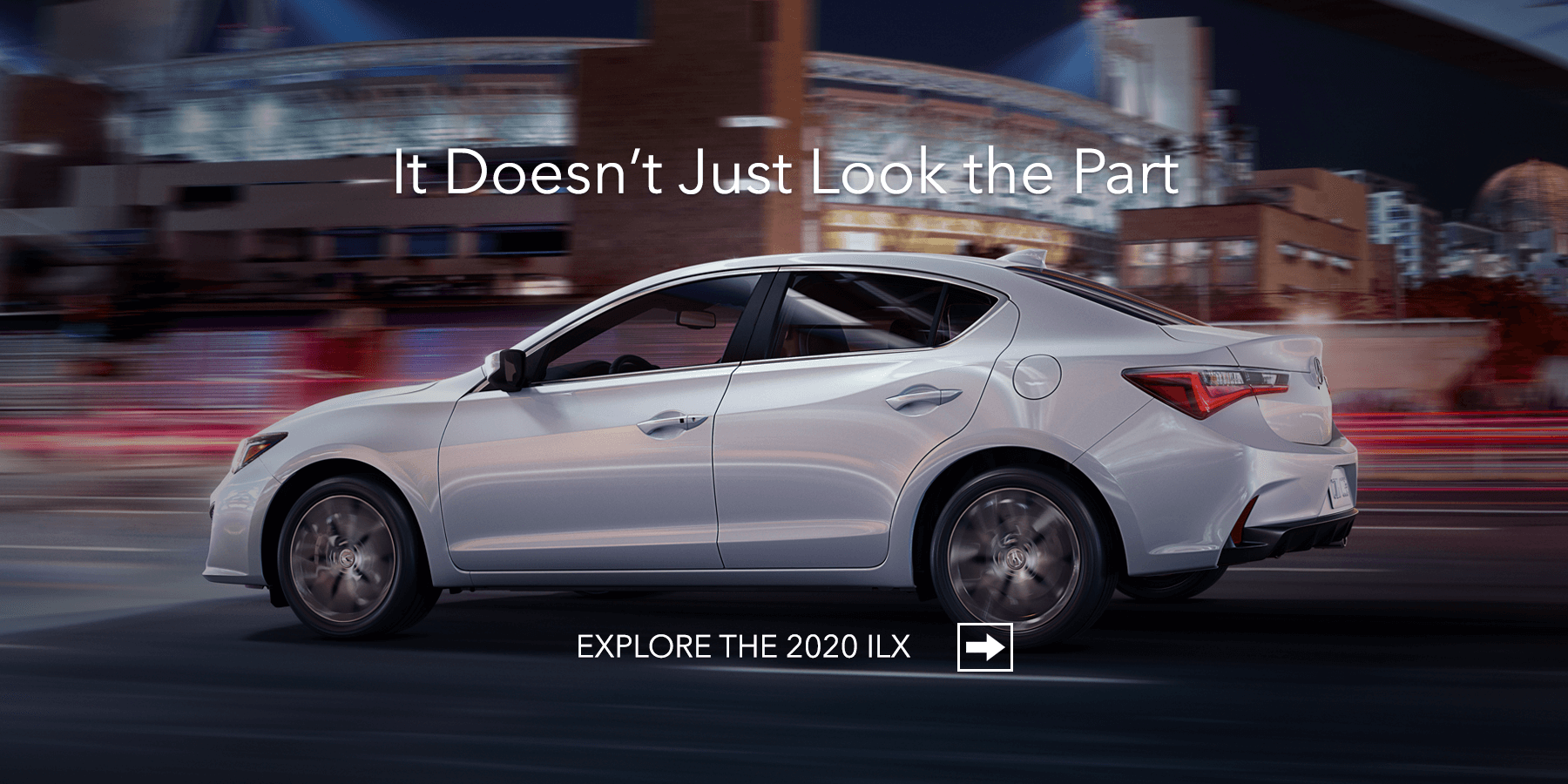 2020 Acura ILX Platinum White Pearl Side Profile HP Slide