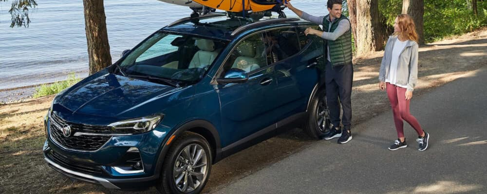 2021 Buick Encore GX with kayaks on roof rails