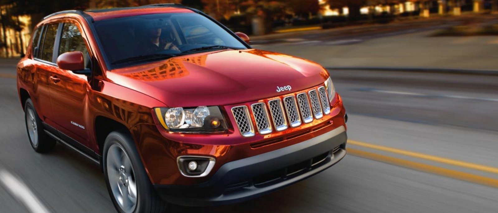 2016 Jeep Compass red exterior