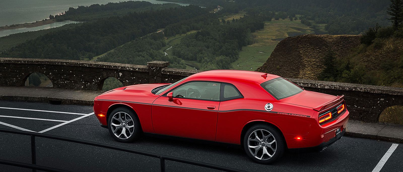 2016 Dodge Challenger red exterior