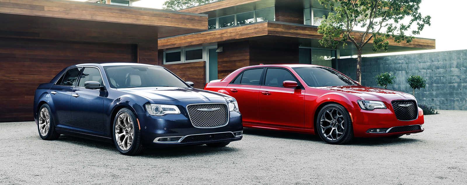 2016 Chrysler 300's parked